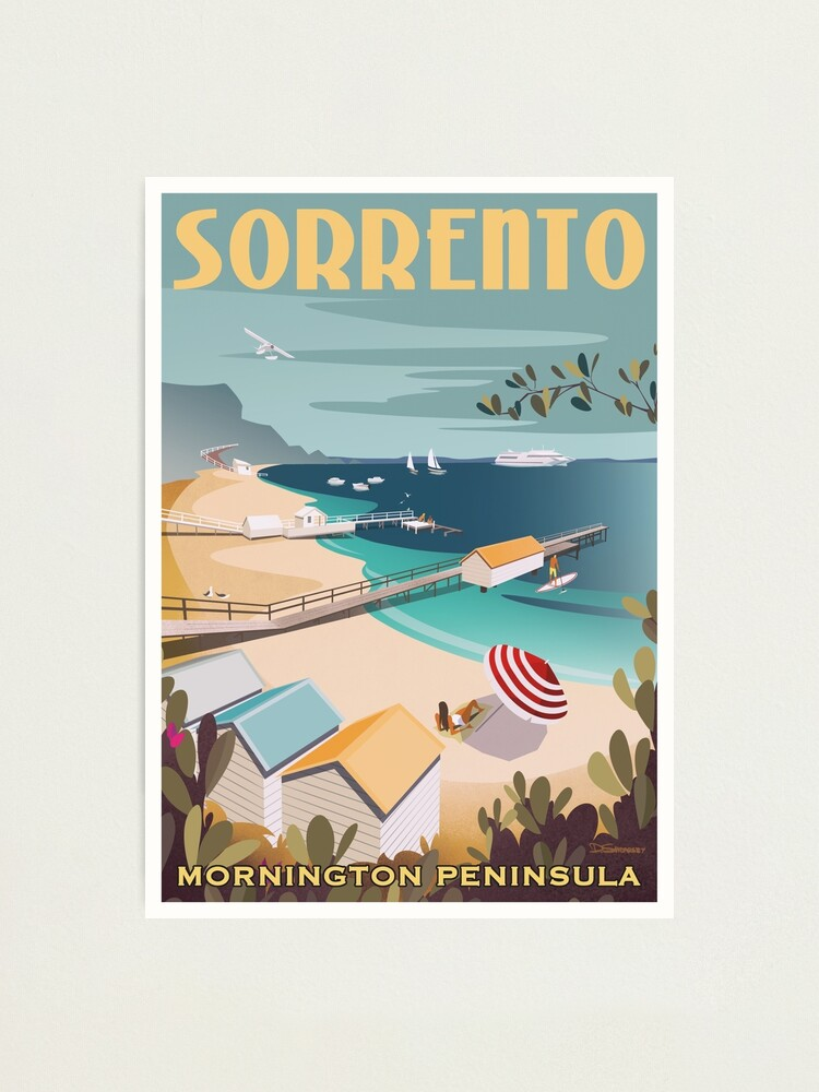 Alternate view of Sorrento Vintage-style Travel Poster Photographic Print