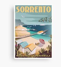 Sorrento Vintage-style Travel Poster Canvas Print