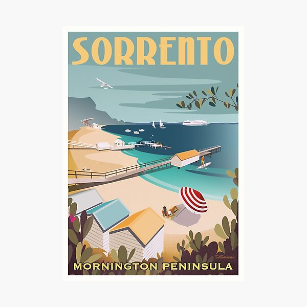 Sorrento Vintage-style Travel Poster Photographic Print