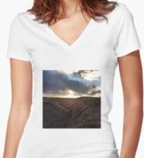 Up on the Moors Women's Fitted V-Neck T-Shirt