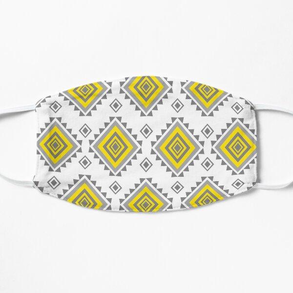 Geometric Ethnic Aztec American African textile tribal ikat digital paper mandalas motif native bohemian carpet  Flat Mask