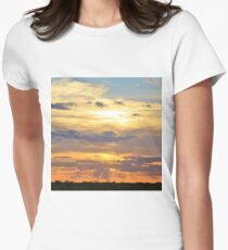 Sunset Background - Tranquil Harmony of Beauty  Women's Fitted T-Shirt