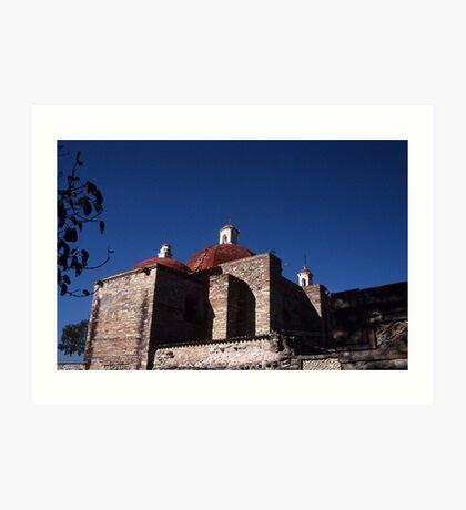 Dominican ruins, Mitla, Mexico Art Print