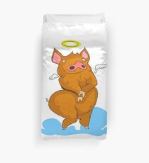 Pig with angel's wings Duvet Cover
