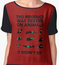 PRODUCT tested on animals Chiffon Top