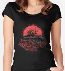 Camiseta entallada de cuello ancho Tentacle Wars