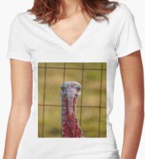 Gobble Gobble Women's Fitted V-Neck T-Shirt