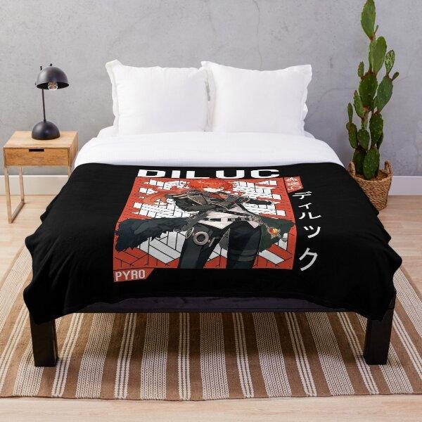 Diluc Genshin Impact Throw Blanket