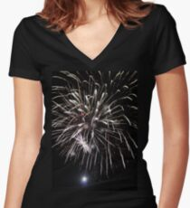 Canada Day 2014 Women's Fitted V-Neck T-Shirt