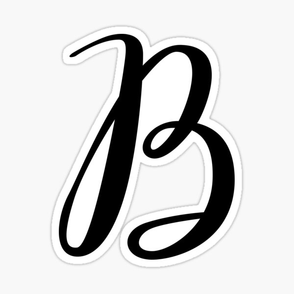 Monograma en cursiva letra B Pegatina