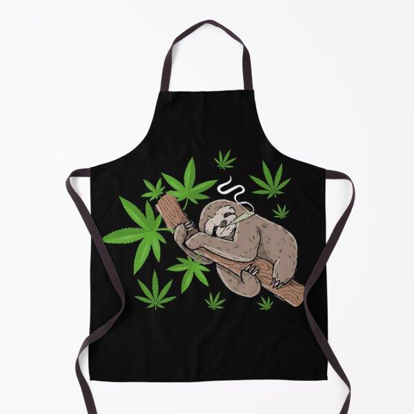 Stoner Sloth Smoking Weed Apron