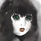 Vulnerable - Girl with Green Eyes by Trish Loader