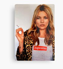 Kate Moss Metalldruck