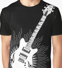 Tribal Sun Guitar Graphic T-Shirt