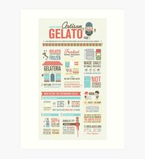 Artisan Gelato Infographic Poster Art Print