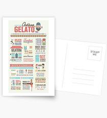 Artisan Gelato Infographic Poster Postcards