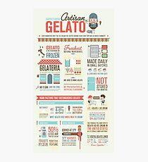 Artisan Gelato Infographic Poster Photographic Print