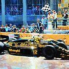 1986 Spanish GP F1 Senna vs Mansell  by Yuriy Shevchuk