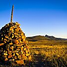 A brick mound at Flinders Ranges, South Australia by Elana Bailey
