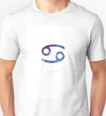 Cancer Zodiac Symbol Watercolour Illustration (Star Sign) Unisex T-Shirt
