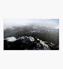 3D Landscape : Sky Fly - The Lake Photographic Print
