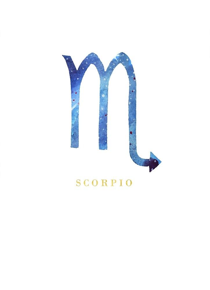 Scorpio Zodiac Symbol Watercolour Illustration Star Sign By Eleni