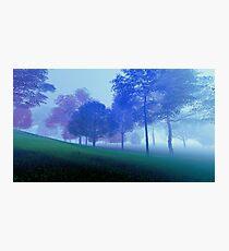 3D Landscape : Old Land - Purple Hills Photographic Print