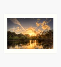Sunset at Appletree Cottage, Adelaide Hills Art Print