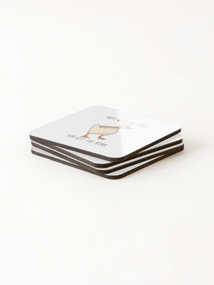 Alternate view of Mess With The Honk You Get The Bonk - Untitled Goose Game Coasters (Set of 4)