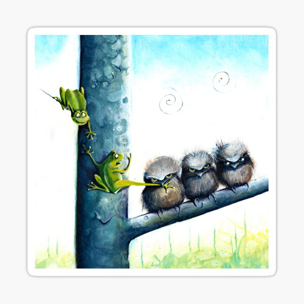 Frogmouth Sticker