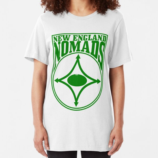 Nomads shield, full chest, green Slim Fit T-Shirt