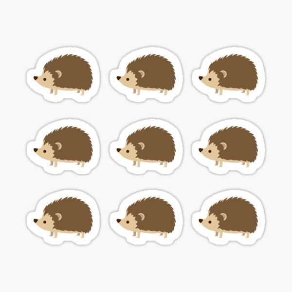 9up Cute Hedgehogs Sticker