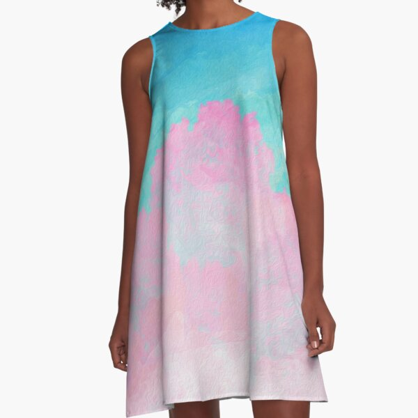 Coral Under the Sea A-Line Dress