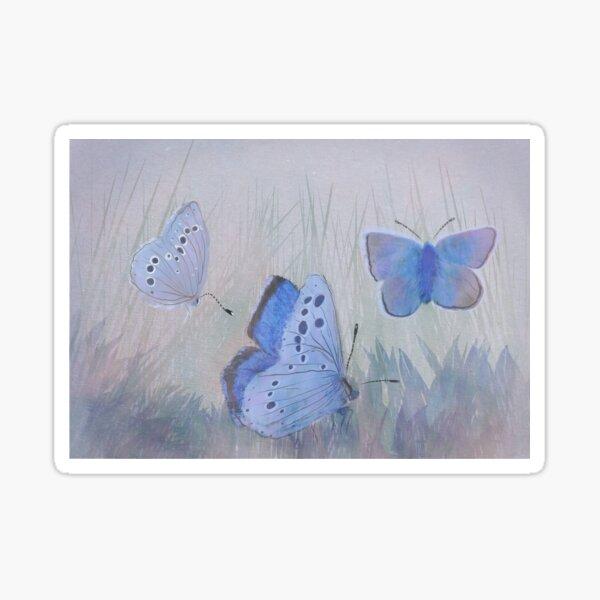 Mission Blue Butterfly Sticker
