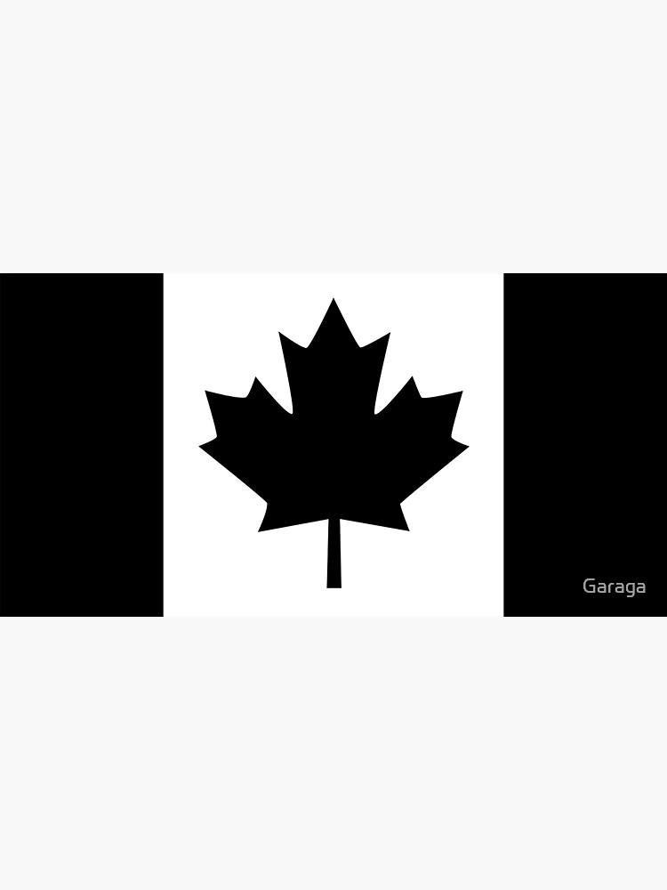 A Black Canadian Flag Version by Garaga