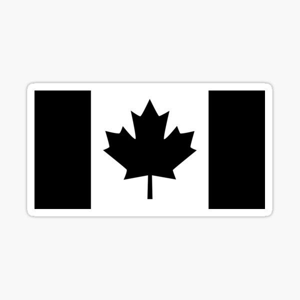 A Black Canadian Flag Version Sticker