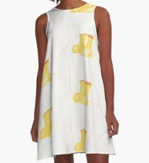 Yellow Rain Boots A-Line Dress