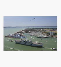 HMS Illustrious final return Photographic Print