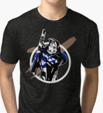 Garrus and Cruiser Tri-blend T-Shirt
