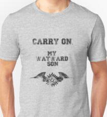 """Carry on, my wayward son"" Supernatural Print T-Shirt"
