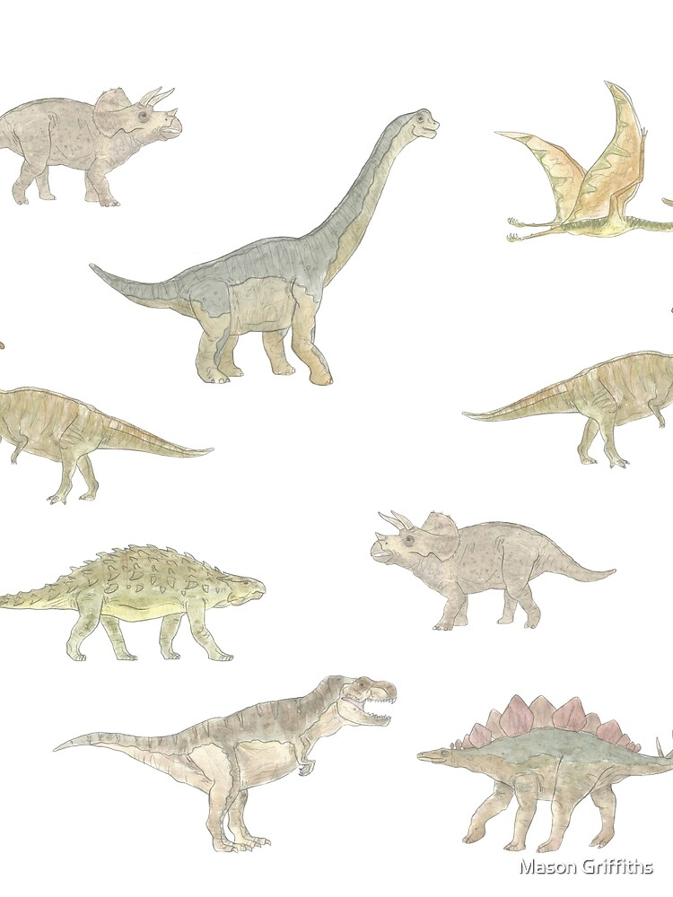 Dinosaur Pattern by MasonGriffiths