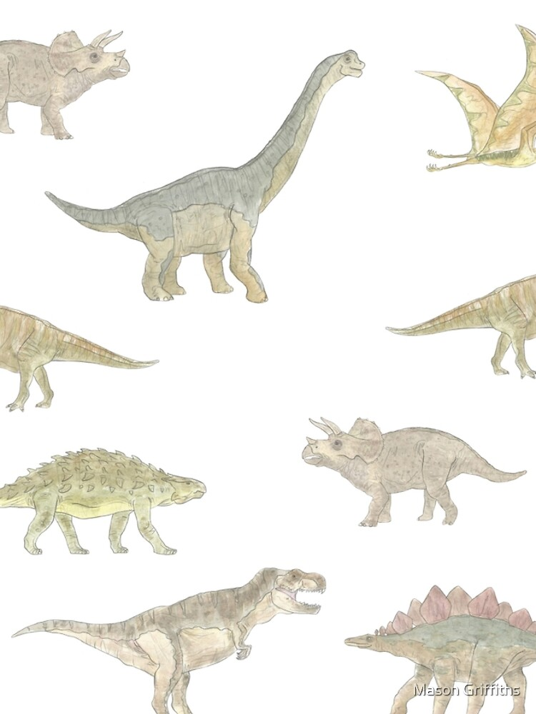 Dinosaur Pattern by MasonGriffiths