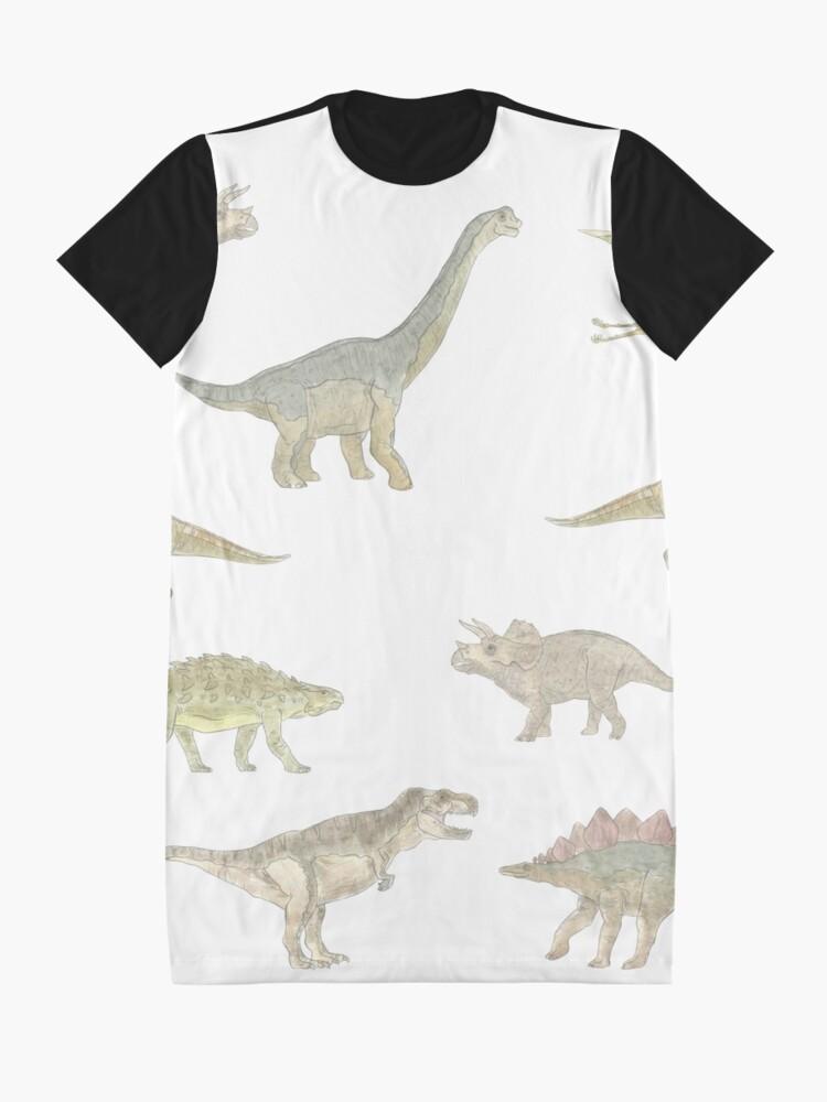 Alternate view of Dinosaur Pattern Graphic T-Shirt Dress