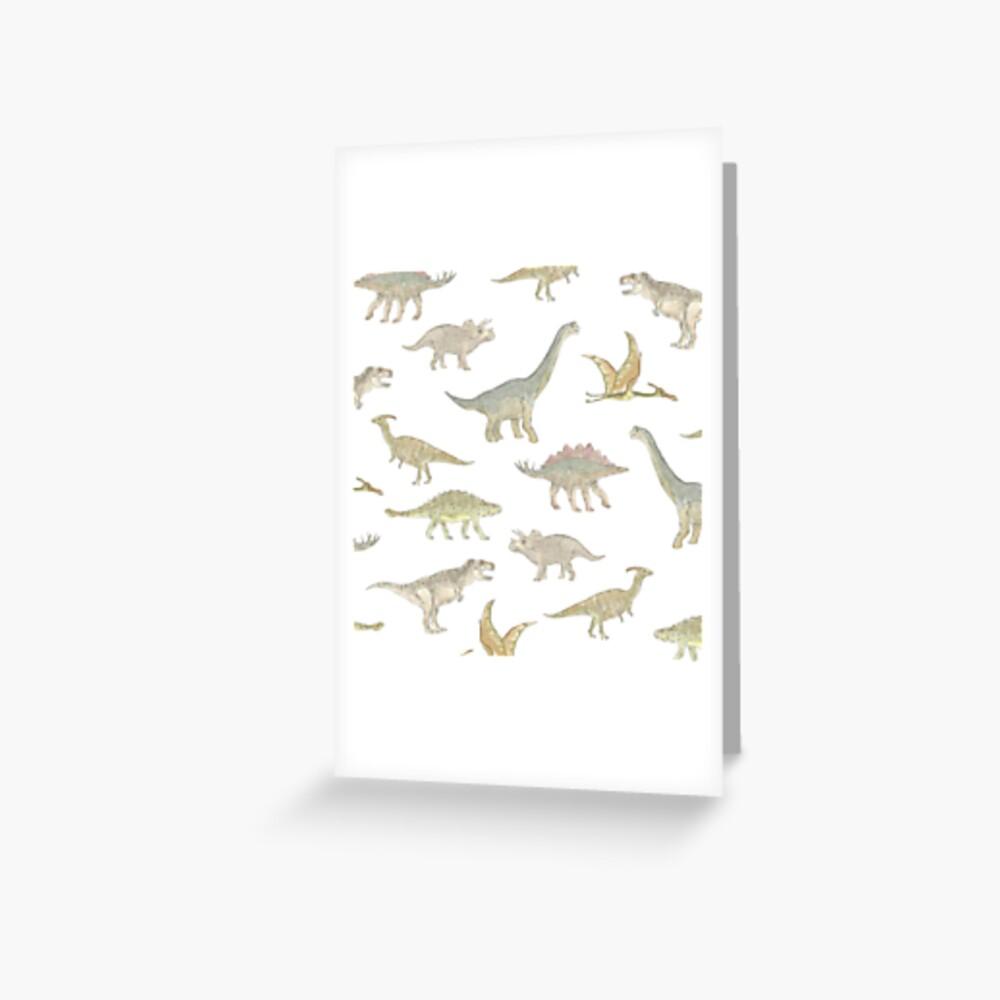 Dinosaur Pattern Greeting Card