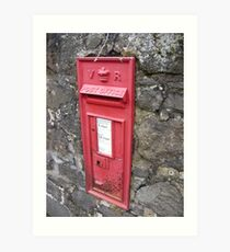 Royal Mail: Traditional, Red, Wall mounted British Post Box Art Print