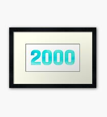 2000 Watercolor Framed Print