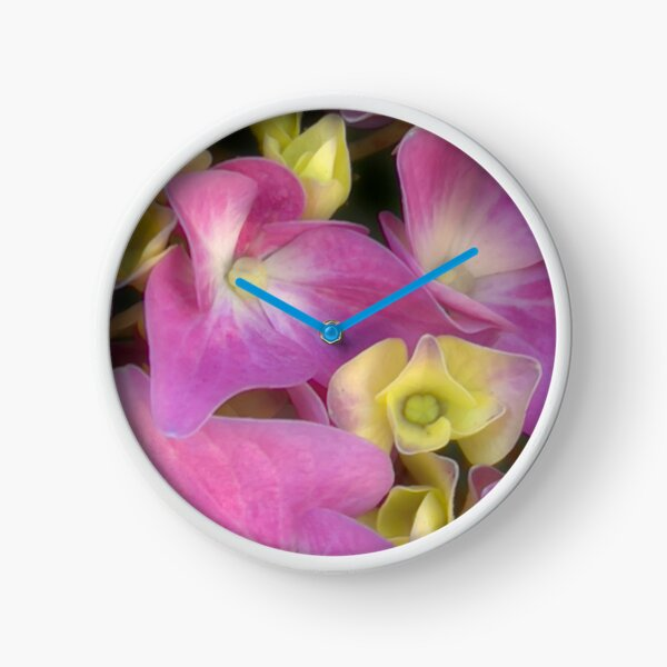 Hydrangea Romance Clock