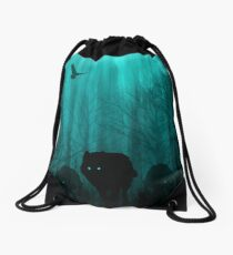 Wolf Pass: Full Moon Zenith Drawstring Bag