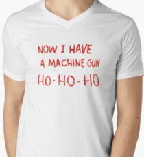 Die Hard - Now I Have A Machine Gun Ho-Ho-Ho Mens V-Neck T-Shirt