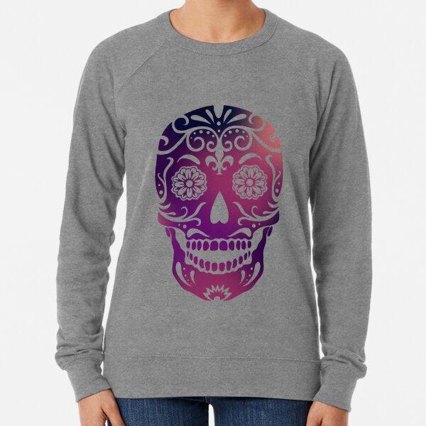 Plum sugar skull Lightweight Sweatshirt